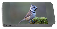 Crested Tit Portable Battery Charger by Torbjorn Swenelius