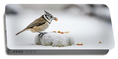 Crested Tit's Catch A Peanut Portable Battery Charger