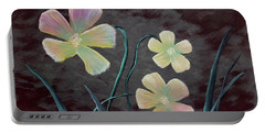 Crimson Flower Portable Battery Charger
