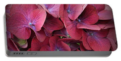 Crimson Hydrangeas Portable Battery Charger