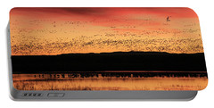 Crimson Sunset At Bosque Portable Battery Charger