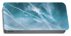 Portable Battery Charger featuring the photograph Criss-cross Sky by Colleen Kammerer