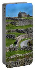 Portable Battery Charger featuring the photograph Criss-crossed Stone Walls Of Inisheer by James Truett