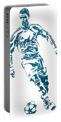 Cristiano Ronaldo Real Madrid Pixel Art 1 Portable Battery Charger