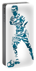 Cristiano Ronaldo Real Madrid Pixel Art 3 Portable Battery Charger