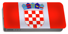 Portable Battery Charger featuring the drawing Croatia Coat Of Arms by Movie Poster Prints