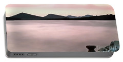 Portable Battery Charger featuring the painting Croatian Coast by Odon Czintos
