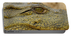 Portable Battery Charger featuring the photograph Croc by Betty-Anne McDonald