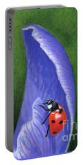 Crocus And Ladybug Detail Portable Battery Charger