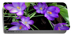 Crocus First To Bloom Portable Battery Charger by Tara Hutton