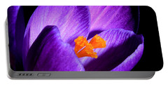 Crocus Portable Battery Charger by Tammy Schneider