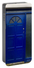 Crooked Blue Door In  Ireland  Portable Battery Charger