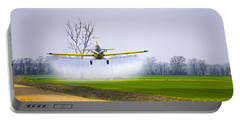 Precision Flying - Crop Dusting 1 Of 2 Portable Battery Charger by Charlie Brock