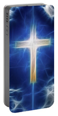Cross Abstract Portable Battery Charger by Bruce Rolff