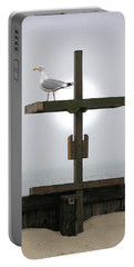 Cross At West Dennis Beach Portable Battery Charger