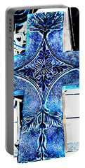 Cross In Blue Portable Battery Charger
