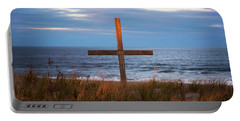 Portable Battery Charger featuring the photograph Cross Light Square by Terry DeLuco