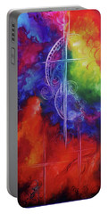Cross Of  Promise Portable Battery Charger by Karen Kennedy Chatham