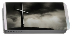 Cross On A Hill Portable Battery Charger