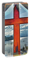 Cross Window Lake View  Portable Battery Charger