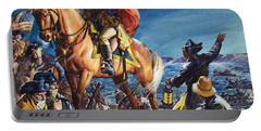 George Washington Crossing The Delaware River On Christmas Night Portable Battery Charger