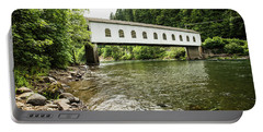 Crossing The Mckenzie River Portable Battery Charger