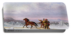 Crossing The Saint Lawrence From Levis To Quebec On A Sleigh Portable Battery Charger
