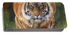 Crouching Tiger Portable Battery Charger by David Stribbling