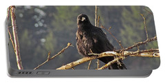 Portable Battery Charger featuring the digital art Crow Morning  by I'ina Van Lawick