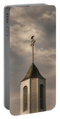 Portable Battery Charger featuring the photograph Crow On Steeple by Richard Rizzo