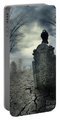 Crow On The Tombstone Portable Battery Charger