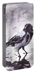 Crow Watercolor Portable Battery Charger