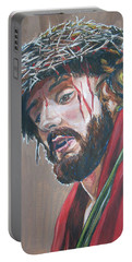 Crown Of Thorns Portable Battery Charger by Bryan Bustard