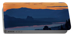 Crown Point And Beacon Rock At Dawn Portable Battery Charger