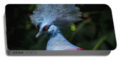 Portable Battery Charger featuring the photograph Crowned Pigeon by Mitch Shindelbower