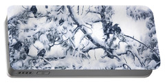 Crows In Snow Portable Battery Charger