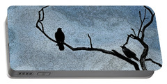 Crows On A Branch Portable Battery Charger