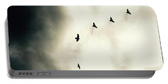 Crows On Christmas Eve 1 Portable Battery Charger