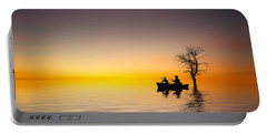 Portable Battery Charger featuring the pyrography Cruise by Bess Hamiti
