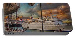 Portable Battery Charger featuring the photograph Cruise Port by Hanny Heim