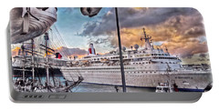 Portable Battery Charger featuring the photograph Cruise Port - Light by Hanny Heim