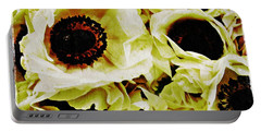 Portable Battery Charger featuring the photograph Crumpled White Poppies by Sarah Loft