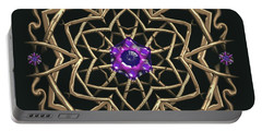 Portable Battery Charger featuring the digital art Crystal 19 by Robert Thalmeier
