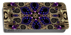 Portable Battery Charger featuring the digital art Crystal 61345 by Robert Thalmeier