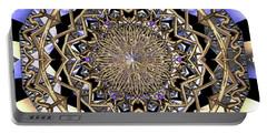 Portable Battery Charger featuring the digital art Crystal Ahau  by Robert Thalmeier