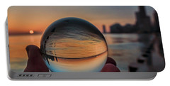Crystal Ball On Chicago's Lakefront At Sunrise Portable Battery Charger