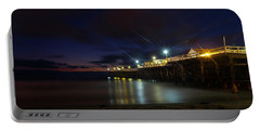Crystal Beach Pier Blue Hour  Portable Battery Charger