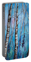 Crystal Blue Forest Portable Battery Charger