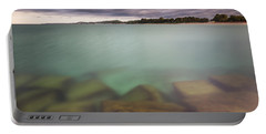 Portable Battery Charger featuring the photograph Crystal Clear Lake Michigan Waters by Adam Romanowicz