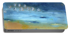 Portable Battery Charger featuring the painting Crystal Deep Waters by Michal Mitak Mahgerefteh